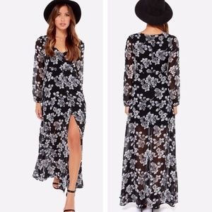 Lucca Couture Sheer Maxi Floral Dress